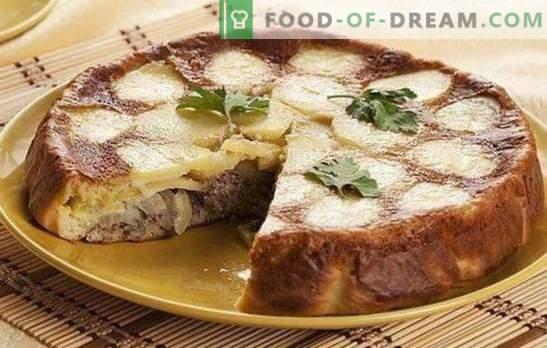 Tarte avec du poisson en conserve et des pommes de terre - un super dîner! Recettes de tartes gelées et autres avec du poisson en conserve et des pommes de terre