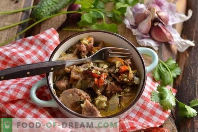 Ragoût de porc au vin blanc avec assaisonnements épicés