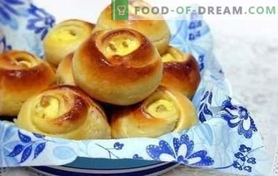 Petits pains au lait caillé - le plus tendre et savoureux! Recettes et secrets de la fabrication de petits pains au fromage blanc sur lait, eau, pâte feuilletée