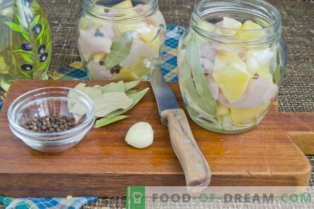Pot fait maison dans le pot - poulet et pommes de terre