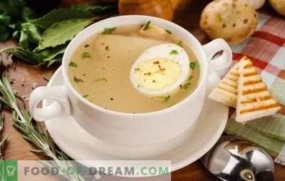 Le bouillon aux œufs est un premier plat facile à préparer. Variantes de bouillon avec œuf de gibier, poisson, poulet et bœuf