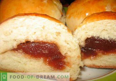 Buns avec de la confiture - les meilleures recettes. Comment bien cuire des petits pains avec de la confiture