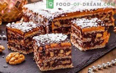 King cake sans farine - un dessert magnifique! Recettes simples du gâteau royal sans farine avec amidon, noix, craquelins
