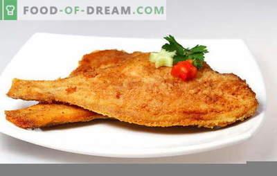 Comment faire frire la plie pour rendre le poisson savoureux. Comment se débarrasser des odeurs désagréables et de la quantité à faire frire la limande