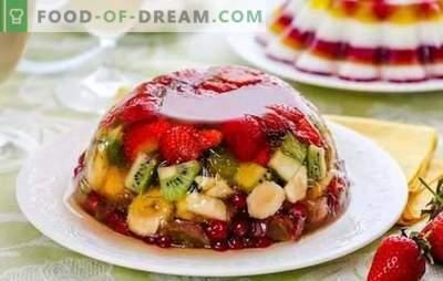 La gelée aux fruits est une délicatesse légère et brillante. Recettes originales de fruits, produits laitiers, gelée de crème sure aux fruits