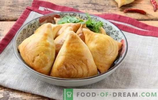 Samsa ouzbek - la cuisson vient de l'est. Les meilleures recettes pour feuilleté samsa ouzbek avec agneau, pommes de terre, citrouille et poulet