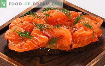 Saler du poisson à la maison dans la marinade et avec le salage à sec. Méthodes spéciales et accélérées de salage du poisson rouge à la maison