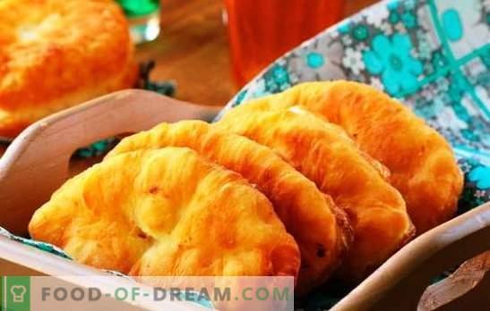 Tartes aux pommes frites - recettes classiques et originales. La cuisson de tartes frites avec des pommes est une expérience agréable