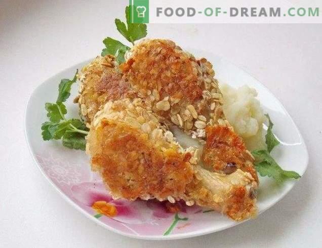 cuisses de poulet effilées en panure