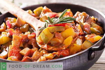 Ragoût de légumes avec de la viande - les meilleures recettes. Comment bien et savoureux cuire le ragoût de légumes avec de la viande.