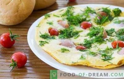 Omelette aux saucisses - un petit-déjeuner simple et copieux! Cuire de délicieuses omelettes avec des saucisses au four, au micro-ondes, dans la mijoteuse et dans la casserole