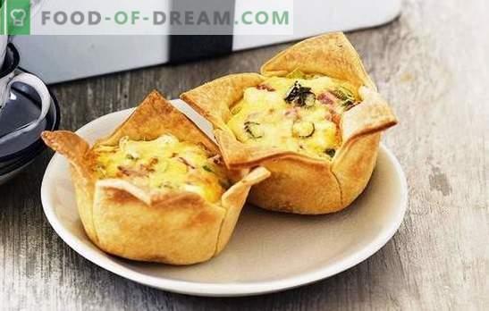 Tartes au jambon - satisfaisantes, savoureuses, faciles! Recettes de diverses tartes au jambon et au fromage, riz, œuf, tomates