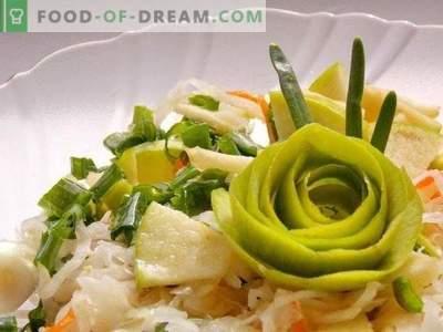 Salade de choucroute aux pommes et oignons verts