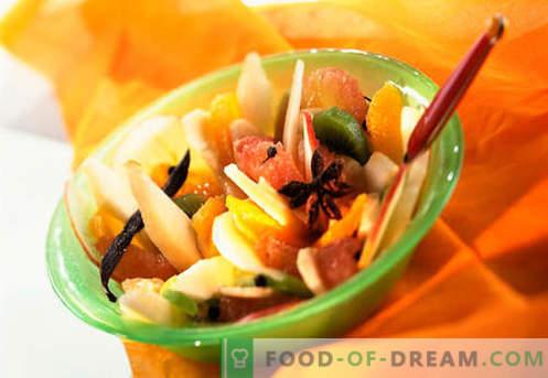 Salades sucrées - recettes éprouvées. Comment faire cuire des salades sucrées