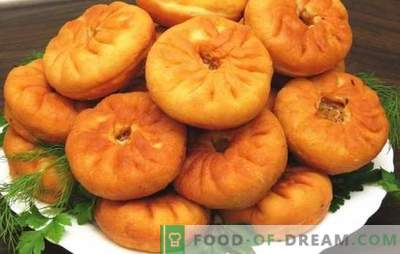Belyashi avec de la viande dans un moule - des tartes qui coulent! Recettes de différents blancs avec de la viande dans une casserole: levure et kéfir