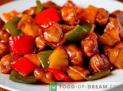 Porc à la sauce aigre-douce - les meilleures recettes. Comment bien cuire du porc en sauce aigre-douce