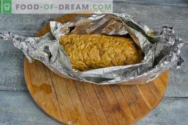 Rouleau de poulet fait maison au four