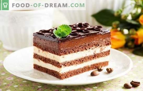 Gâteau à l'opéra - un dessert harmonieux. Recettes pour divers gâteaux à l'opéra avec groseilles, café, noix, crème suisse