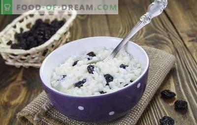 Le riz aux raisins n'est pas seulement du kutya! Recettes de délicieux plats de riz aux raisins: côtelettes, céréales, plats à la casserole, pilaf et desserts