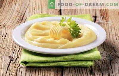 Cartofii cu piure de ou sunt un alt mod de a face un fel de mâncare populară. Pătrunjel de cartofi cu ou, cu lapte și ou, cu unt și ou