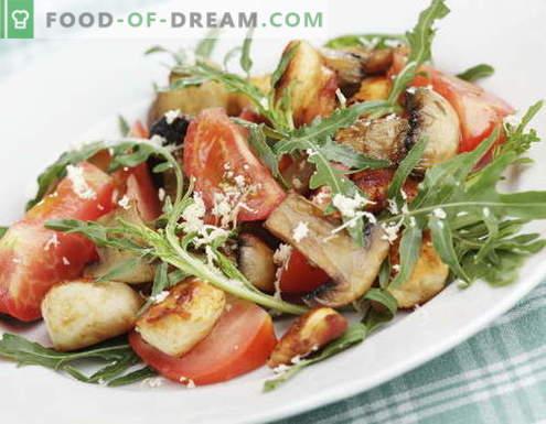 Salade au poulet et aux champignons - les meilleures recettes. Comment faire cuire correctement et délicieusement des salades de poulet aux champignons.