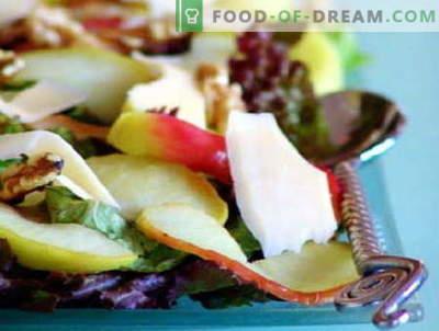 Les salades aux pommes sont les meilleures recettes. Comment bien et savoureux préparer une salade aux pommes.