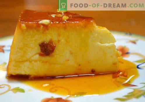Pudding au lait - les meilleures recettes. Comment faire du pudding au lait correctement et savoureux.