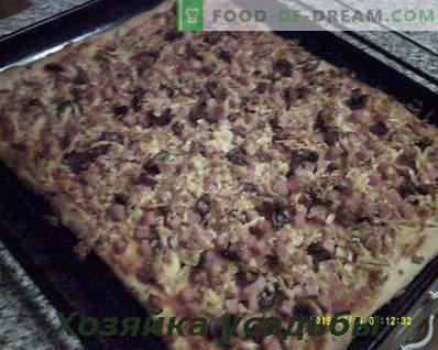 Hausgemachte Pizza, Kochrezept mit Fotos Schritt für Schritt