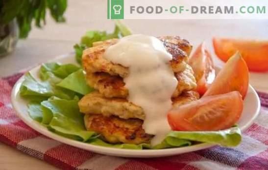 Kippenbeignets met mayonaise - sneller dan pasteien! Culinaire avant-garde van het derde millennium - recept voor kipbeignets met mayonaise
