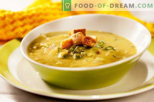Soupe de pois au poulet - les meilleures recettes. Comment bien et savoureux cuire la soupe aux pois avec du poulet.