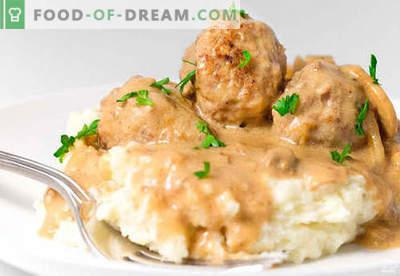 Boulettes de viande à la sauce à la crème sure - recettes éprouvées. Comment bien et savourer des boulettes de viande cuites dans une sauce à la crème sure.