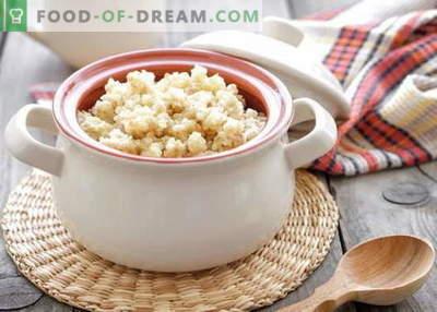 Bouillie de blé - les meilleures recettes. Comment faire cuire la bouillie de blé.