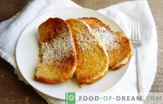 Pain au lait dans une casserole - croûtons sucrés, épicés et au bouillon. Faire frire les croûtons de pain au lait dans une casserole