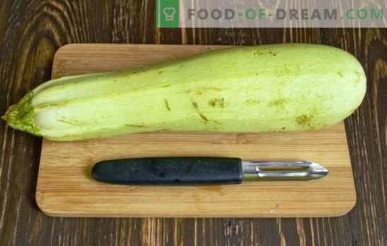 Comment nettoyer la courgette - jeune ou vieux, pour différents plats. Comment nettoyer les courgettes correctement, professionnellement?