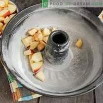 charlotte maigre aux pommes et à la cannelle sur crème végétale