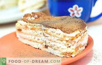 Le gâteau à base de craquelins et de crème sure est un dessert tendre pour toutes les occasions. Les meilleures recettes de gâteaux à base de craquelins et de crème sure avec divers additifs