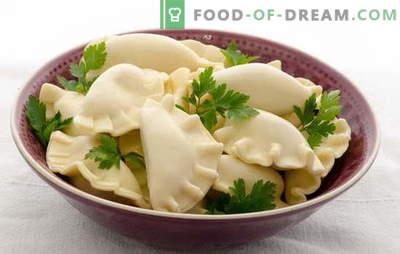 Dumplings sur kéfir avec pommes de terre - tendres, aérés, avec des jus. Une sélection de recettes disponibles pour les raviolis sur kéfir avec pommes de terre