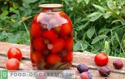 Tomates aux prunes pour l'hiver - on se souviendra de l'été! Recettes et secrets de la cuisson des blancs de tomates aux prunes pour l'hiver