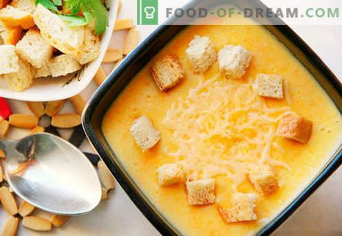 Soupe de bouillon de poulet - les meilleures recettes. Comment bien et savoureux cuire la soupe dans le bouillon de poulet.