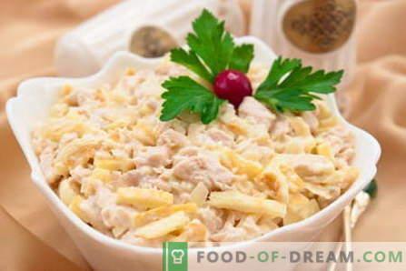 Salade Tendresse - les meilleures recettes. Comment cuire correctement et savoureux salade Tendresse.