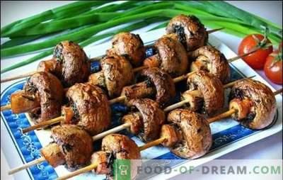 Marinade pour champignons - les meilleures recettes pour les champignons parfumés. Marinade de champignons au grill sur la base de crème sure, sauce soja, vin