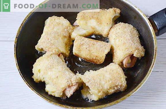 Petits pains à grignoter avec saucisse et fromage. Ceci vous n'avez pas essayé!