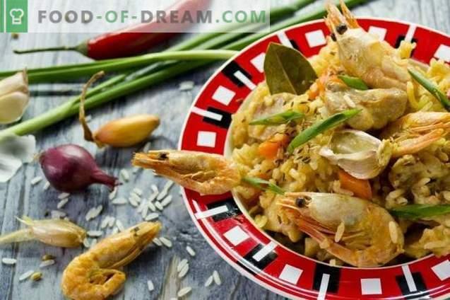 Pilaf au poulet et aux crevettes