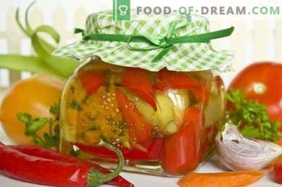 Assorted pickled peppers for the winter