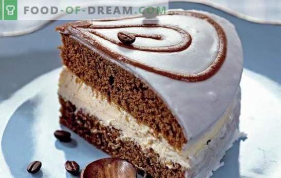 La torta de café es un postre fragante para todos los amantes del café. Las mejores recetas para pasteles de café: sencillas, con fruta, con merengue, sin hornear