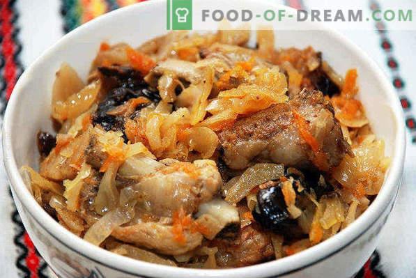 Bigus au chou frais, recettes à la viande, porc, poulet, viande hachée, saucisse, à la mijoteuse