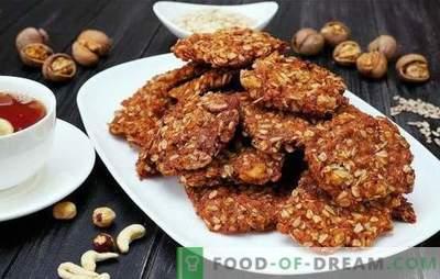 Comment faire rapidement de délicieux biscuits à la farine d'avoine avec des noix pour le thé. Secrets de la fabrication de biscuits à l'avoine avec des noix