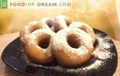 Donuts au kéfir - recettes avec des photos et de nombreuses astuces! Cuisine détaillée de différents beignets sur kéfir selon des recettes avec des photos