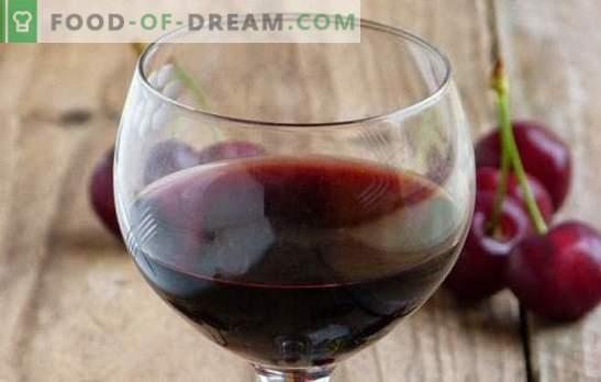 Kirschwein zu Hause: Die wichtigsten Punkte der Weinkochung. Rezepte hausgemachte Weine aus Kirsche