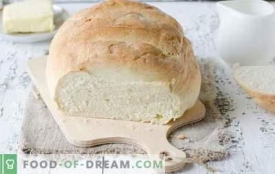 Pain blanc au four - de délicieux gâteaux faits maison. Les meilleures recettes de pain blanc au four sur de l'eau, du lait, du yaourt